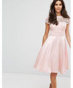 Chi Chi London   Платье Миди С Кружевом