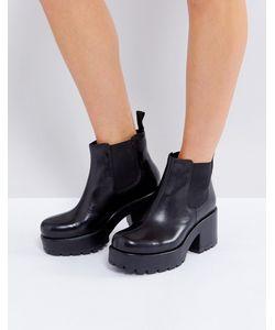 Vagabond | Черные Кожаные Ботинки Челси Dioon