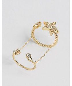 Cara Jewellery | Кольцо Регулируемого Размера Со Звездами Cara Ny