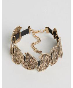DesignB London   Designb Leaf Detail Bracelet