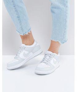 Nike | Серые Низкие Кроссовки С Белыми Вставками Dunk