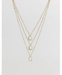 Ashiana | Ожерелье В Три Слоя С Камнями