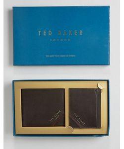 Ted Baker | Подарочный Набор Из Кожаных Бумажника И Кошелька Для Карт