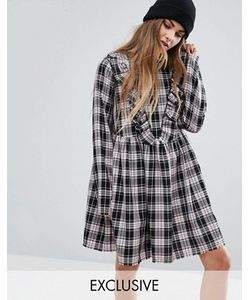 Reclaimed Vintage | Платье В Клетку С Оборкой Спереди