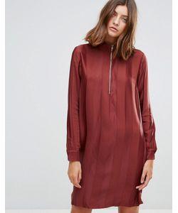 Just Female | Свободное Платье С Высоким Воротом