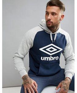 Umbro | Темно Худи С Крупным Логотипом