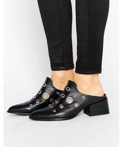 Sol Sana | Кожаные Туфли На Каблуке С Люверсами Clarice