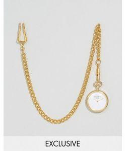 Reclaimed Vintage | Лаконичные Карманные Часы Золотистого Цвета