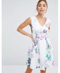 Closet London | Цветочное Приталенное Платье Closet