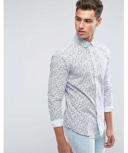 Only & Sons | Рубашка Зауженного Кроя С Цветочным Принтом