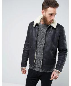 Asos | Черная Куртка Из Искусственной Цигейки