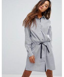 Gestuz   Полосатое Платье-Рубашка С Поясом-Завязкой Winnie