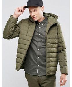 Element | Зеленая Стеганая Куртка С Капюшоном Hayden