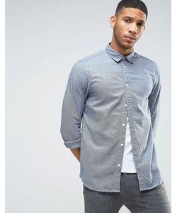Selected Homme | Фактурная Узкая Рубашка С Длинными Рукавами