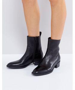 Vagabond | Черные Кожаные Ботинки Meja