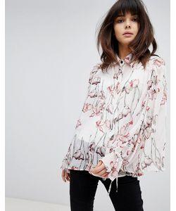 6056102c643 Religion - Свободная Рубашка С Цветочным Принтом