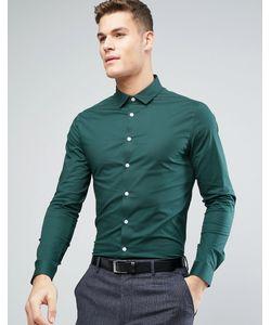 Asos | Сине-Зеленая Зауженная Рубашка