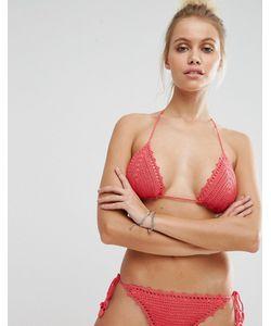 Bikini Lab   Бикини С Треугольными Чашечками Из Кружева Кроше Ручной Работы