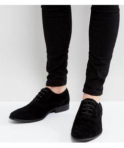Asos | Черные Туфли Дерби Для Широкой Стопы