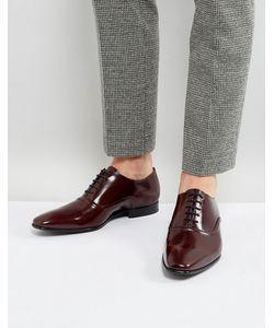PS PAUL SMITH | Бордовые Оксфордские Блестящие Туфли