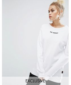 Adolescent Clothing | Oversize-Свитшот С Вышивкой Go Away Valentines