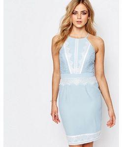 Lipsy | Платье Миди С Высоким Воротом И Кружевной Отделкой