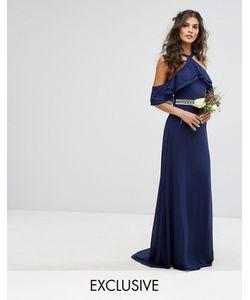 TFNC | Платье Макси С Оборками Декорированной Талией И Шлейфом Wedding