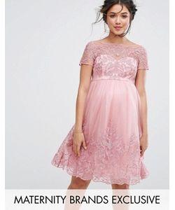 Chi Chi Maternity | Платье-Премиум Для Выпускного С Вышивкой И Юбкой Из Тюля Chi Chi