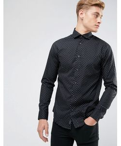 ARMANI JEANS | Черная Рубашка С Принтом Логотипа