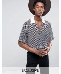 Reclaimed Vintage | Черная Рубашка Классического Кроя С Отложным Воротником Inspired