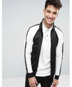 Hollister | Черная Спортивная Куртка Классического Кроя На Молнии С Лентой На Рукавах