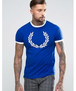 Fred Perry Laurel Wreath | Print Ringer T-Shirt In Regal