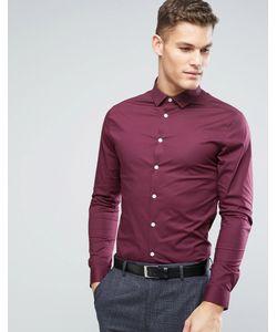 Asos | Бордовая Рубашка Скинни