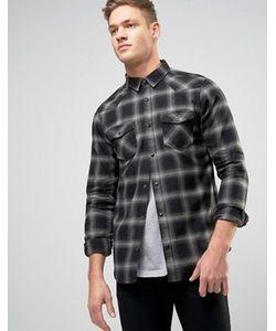 New Look | Серая Рубашка В Клетку Классического Кроя