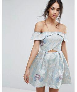 MISSGUIDED | Короткое Приталенное Платье С Открытыми Плечами