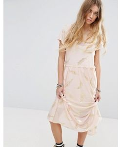 Minkpink | Beauty And The Beast Sheer Layer Smock Dress With Feather