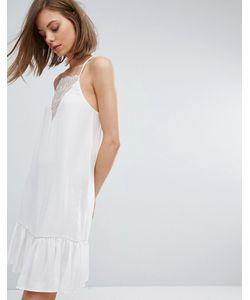 Moss Copenhagen   Платье-Майка С Кружевной Вставкой И Баской По Краю