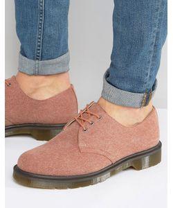 Dr. Martens | Выбеленные Парусиновые Туфли С 3 Парами Люверсов Lester