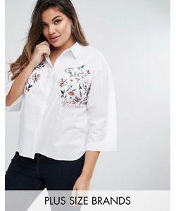 Boohoo Plus | Рубашка С Вышивкой И Рукавами-Кимоно