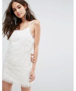 Glamorous   Платье На Бретелях Из Пушистой Ткани