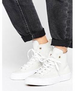 Converse | Белые Кожаные Высокие Кроссовки Chuck Ii