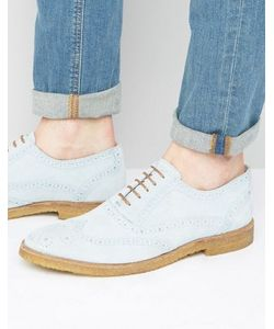 WALK London   Duke Suede Oxford Brogue Shoes