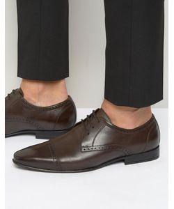 Frank Wright | Коричневые Оксфордские Туфли Со Вставкой На Носке