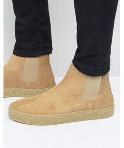 Asos | Замшевые Ботинки Челси Песочного Цвета