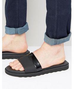 Hugo   By Boss Delight Leather Slider Sandals