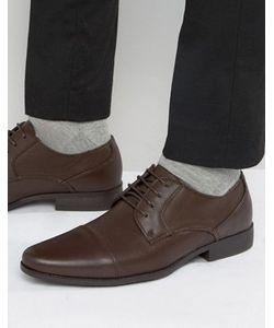 Asos | Коричневые Туфли Дерби Из Искусственной Кожи С Тиснением