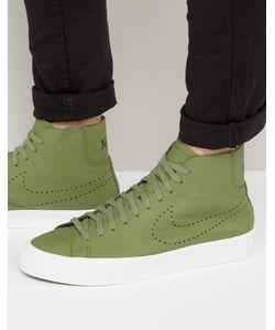Nike | Зеленые Кроссовки Blazer Studio 880870-300