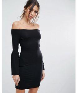 Asos   Облегающее Платье Мини С Открытыми Плечами