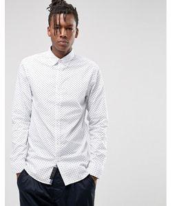Produkt | Рубашка Узкого Кроя С Воротником На Пуговицах И Мелким Принтом