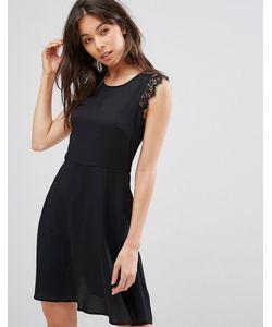 Qed London | Платье Мини С Кружевными Вставками На Плечах